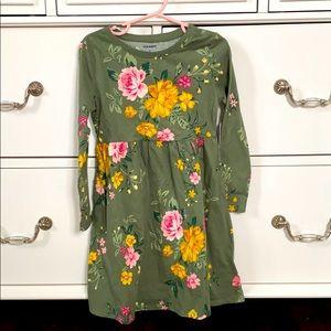 Toddler green flower dress
